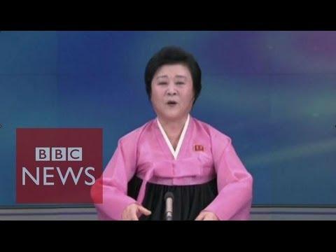 Moment N Korea announces H-bomb test - BBC News